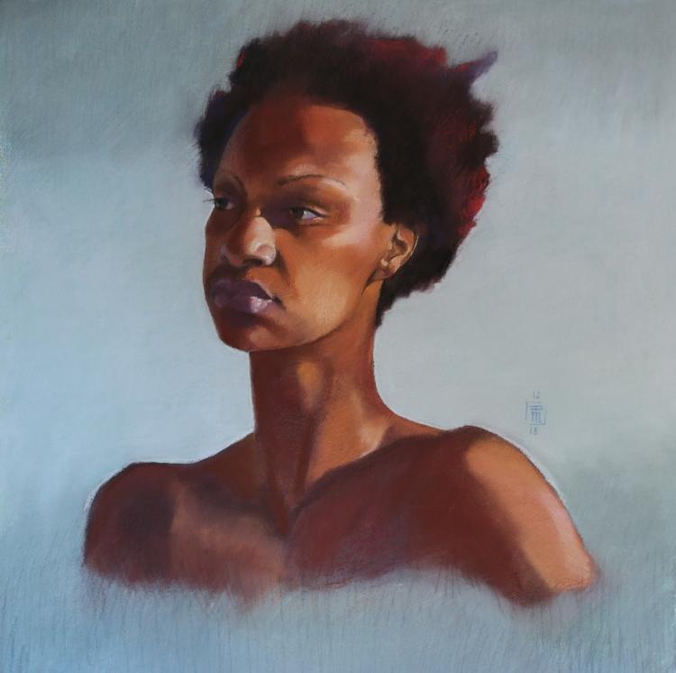 Portrait Study (51X51cm)